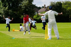 Mixed Kwik Cricket at Farnham Common Cricket Club Slough on 10 June 2014.